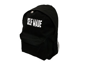 Black Backpack Brand Word Series ~ SELF MADE ~ Urban Glam