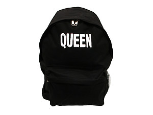 Black Backpack Brand Word Series ~ QUEEN ~ Urban Glam
