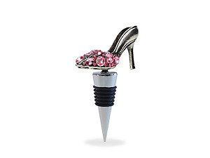 Metal High Heel Shoe Wine Stopper