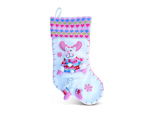 Reindeer Love Pink Luxury Christmas Stocking