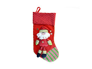 Santa Classic Red Christmas Stocking