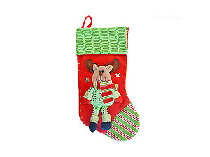 Red Reindeer Luxury Christmas Stocking