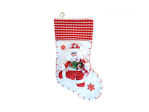 Santa Classic Red & White Christmas Stocking