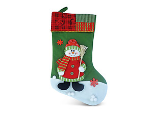 Snowman Classic Luxury Christmas Stocking