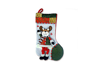 Plush Reindeer Dangle Legs Luxury Stocking