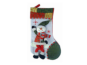 Plush Snowman Dangle Legs Luxury Stocking