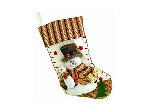 Plush Brown Snowman Christmas Stocking