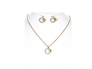 Butterfly Charm Link Necklace and Earring Set