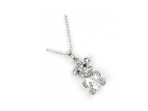 Love Teddy Bear Pendant Necklace