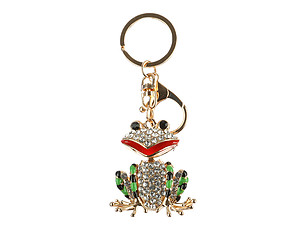 Frog Moving Parts Hollow Textured Metal Key Chain Accessory Handbag Charm