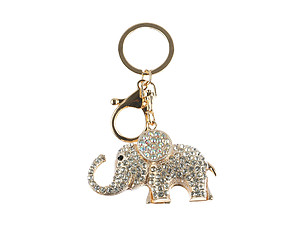 Elephant Hollow Textured Metal Key Chain Accessory Handbag Charm