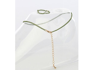 Olive 2 Piece Color Chain Toe Ring and Anklet Set