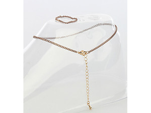 Peach 2 Piece Color Chain Toe Ring and Anklet Set
