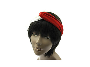 Red & White Fabric Intercross Fashion Headband Hair Accessory