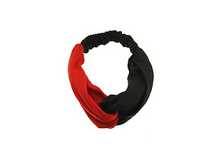 Red & Black Fabric Intercross Fashion Headband Hair Accessory
