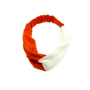 Orange & White Fabric Intercross Fashion Headband Hair Accessory