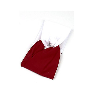 Red & White Fabric Stretch Double Layer Fashion Headband Hair Accessory