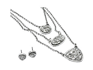 Silver Multi-Strand Jewelry Set