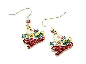 Festive Christmas Fish Hook Earrings