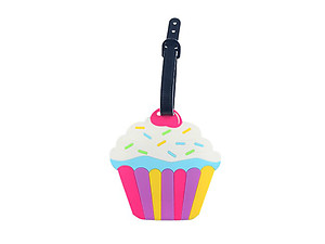 Multicolor Cupcake ~ Travel Suitcase ID Luggage Tag and Suitcase Label