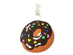 Hearts Icing Donut (2) ~ Travel Suitcase ID Luggage Tag and Suitcase Label