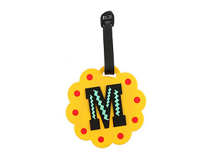 'M' initial ~ Travel Suitcase ID Luggage Tag and Suitcase Label