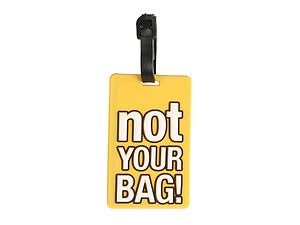 Yellow Not Your Bag ~ Travel Suitcase ID Luggage Tag and Suitcase Label