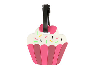 Cupcake ~ Travel Suitcase ID Luggage Tag and Suitcase Label