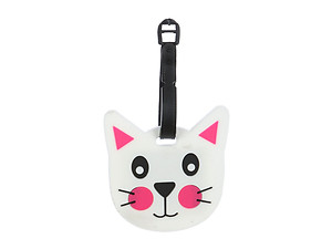Travel Suitcase ID Luggage Tag and Suitcase Label - Kitten