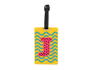 'J' initial ~ Travel Suitcase ID Luggage Tag and Suitcase Label