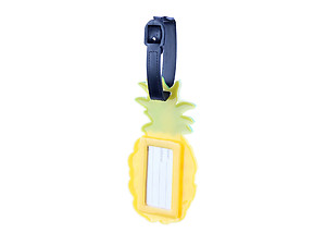 Travel Suitcase ID Luggage Tag and Suitcase Label - Yellow Pineapple