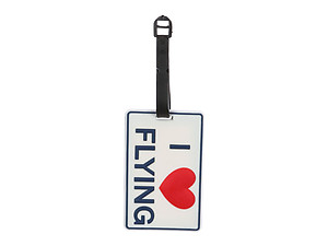 I Heart Flying ~ Travel Suitcase ID Luggage Tag and Suitcase Label