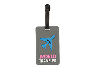 Travel Suitcase ID Luggage Tag and Suitcase Label -  World Traveler