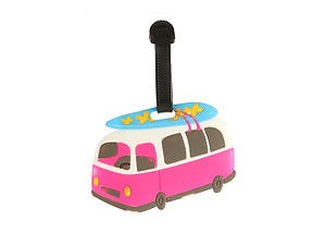 Beach Bus ~ Travel Suitcase ID Luggage Tag and Suitcase Label