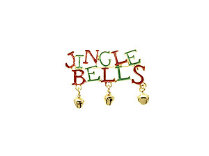 Jingle Bells Christmas Bells Pin and Brooch