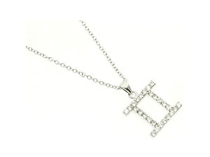Gemini Cubic Zirconia Horoscope Necklace
