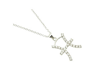 Pisces Cubic Zirconia Horoscope Necklace