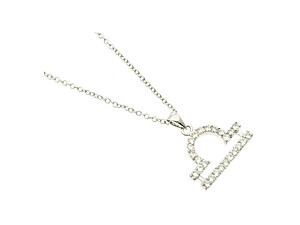 Libra Cubic Zirconia Horoscope Necklace