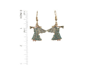 Glitter Christmas Angel Metal Fish Hook Earrings