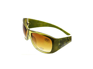 Green Butterfly Wide Lense Sunglasses