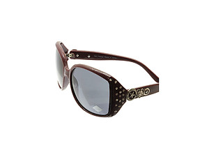 Red Crystal Stone Studded Wide Lense Sunglasses