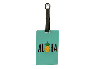 Travel Suitcase ID Luggage Tag and Suitcase Label - Aloha