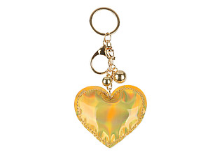 Vinyl Iridescent Holographic Stuffed Pillow Keychain Handbag Charm