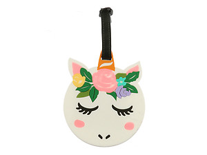 Unicorn Head ~ Travel Suitcase ID Luggage Tag and Suitcase Label
