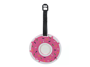 Travel Suitcase ID Luggage Tag and Suitcase Label - Donut