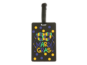 Travel Suitcase ID Luggage Tag and Suitcase Label - Mardi Gras