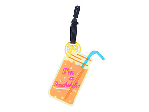 Travel Suitcase ID Luggage Tag and Suitcase Label - Cocktail