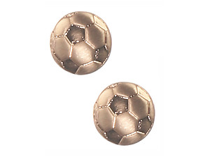 Matte Finish Metal Stud Sports Themed Earrings