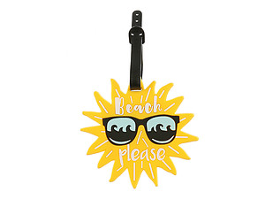 Sun In Sunglasses ~ Travel Suitcase ID Luggage Tag and Suitcase Label