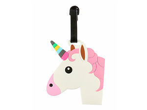 Large Unicorn Head ~ Travel Suitcase ID Luggage Tag and Suitcase Label